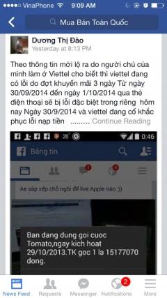 [Cảnh báo]Lừa đảo nạp tiền Viettel trên FB qua mã *136* và *103*