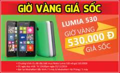 [Mobile] 10 Nokia Lumia 530 giá 530k tại MediaMart ngày 01/11