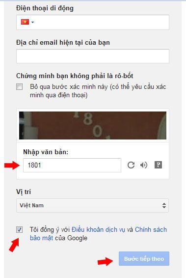 Tạo Gmail mới