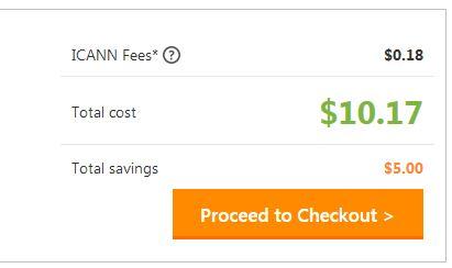 Domain 4,99 USD tại Godaddy