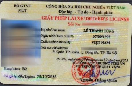 Bằng lái xe bằng thẻ nhựa PET