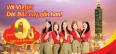 [Vé Máy Bay] Săn Vé Tp.HCM – Đài Bắc Của VietJetAir giá 0đ