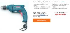 990k Bộ Dụng Cụ 100 Chi Tiết + Máy khoan Bosch GSB 500 RE (Save 200k)