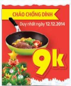 [HC Hà Nội] 1000 Chảo Chống Dính Giá 9K Trong Ngày 12/12