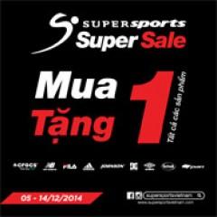 Supersports Super Sale 2014 - Mua 1 Tặng 1