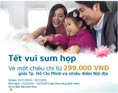 """Khuyến mãi 299K vé máy bay 1 chiều của VN Airline -"""" Vui Xuân Ất Mùi"""""""