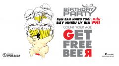 [BBQ] Tặng Bia Miễn Phí Số Lượng Bằng Số Tuổi Của Chủ Tiệc