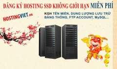 [Hosting] Nhận 150 Gói SSD Hosting Việt Nam Unlimited (3 Đến 6 Tháng) HostingViet.vn