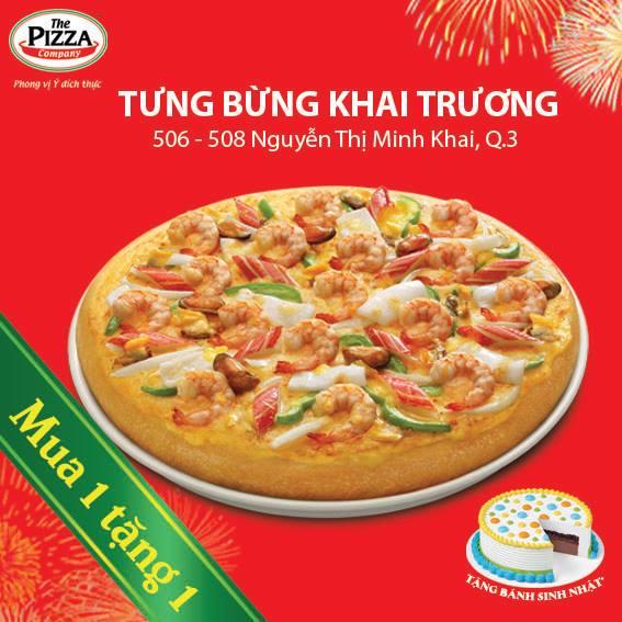 Tặng 1 Pizza mừng khai trường cửa hàng mới tại Nguyễn Tri Phương