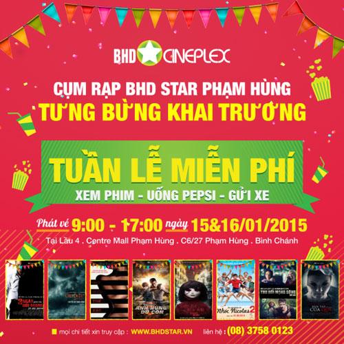 Tuần lễ chiếu Film miễn phí tại TP HCM