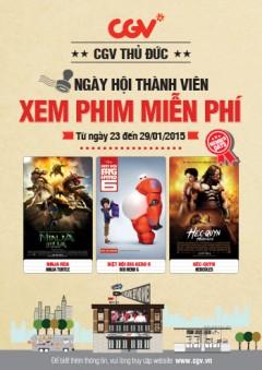 [HCM] Miễn Phí Vé Xem Film (Ninja Rùa, Biệt Đội Big Hero 6, Héc-Quyn.) Tại CGA, Quận Thủ Đức