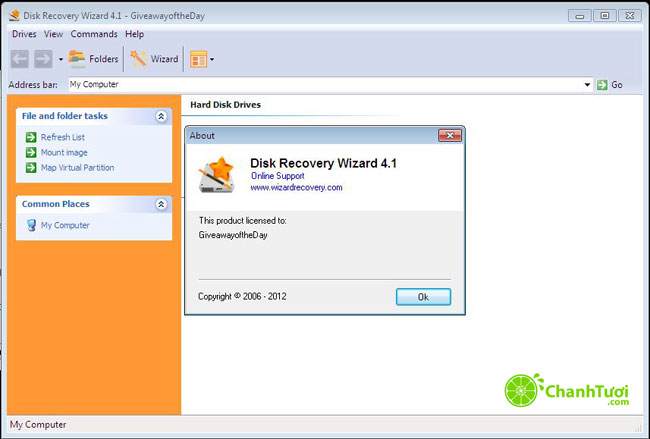 Bản Quyền Disk Recovery Wizard 4.1