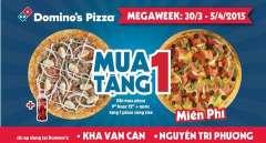 [Hồ Chí Minh]Domino's Pizza khuyến mãi mua 1 tặng 1
