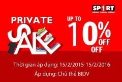 Khuyến mại 10% Tại Sport1 Khi Thanh Toán Bằng Thẻ BIDV