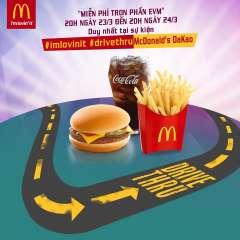 [HCM] McDonald's tặng phần ăn EVM miễn phí