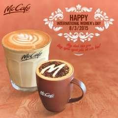 [McDonald's] Khuyến Mại Đồ Uống Nóng McCafe Mừng Ngày 8/3