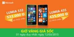 Giờ vàng khuyến mại khi mua Microsoft Lumia 532 & Lumia 435