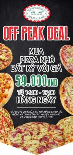 [Pizza] Mua 1 Pizza Cỡ Nhỏ Bất Kỳ Giá 59k (Giảm 50%) Tại Peppreronis