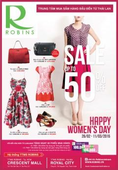 [Thời Trang Nữ] Robins Giảm Giá Đến 50% Mừng Quốc Tế Phụ Nữ