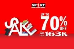 Sport1 giảm giá 70% – giày NIKE, ADIDAS chỉ từ 163k