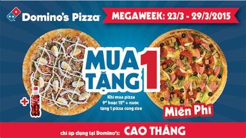 Domino's Pizza Vietnam : MUA 1 TẶNG 1