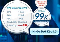 15 Gói VPS Giá 99k (Ram 512MB - 10GB - 1 Core)  - 1 Năm Sử Dụng Tại 123Host