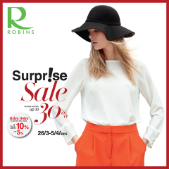 Robins khuyến mãi giảm giá tới 30% trên nhiều quầy hàng