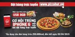 Ăn Pizza Hut nhận ngay hàng ngàn USB 8GB Miễn Phí
