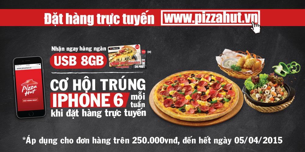 Ăn pizza tặng ngay usb 8gb