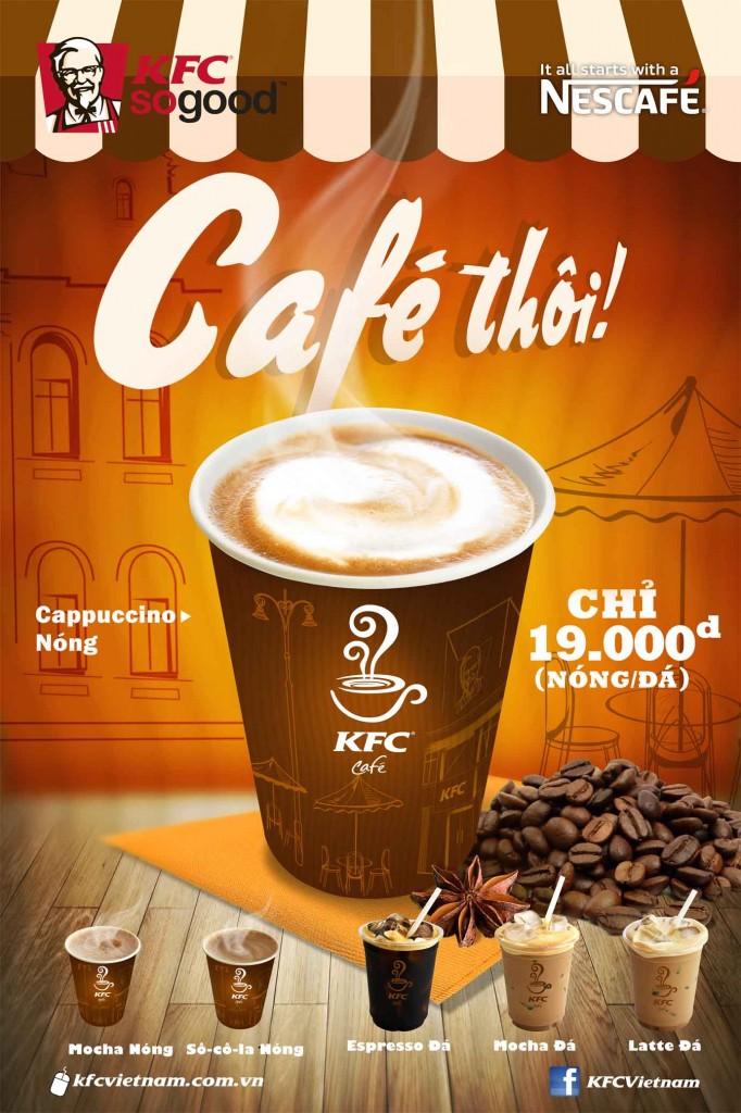 Cafe KFC chỉ với 10k
