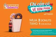 """Cùng Dunkin' Donuts đón hè thật đã với combo """"2 DONUTS TẶNG 1 COCA"""""""