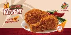 Ra mắt Combo gà Jalapeno Txtreme TEXAS CHICKEN giảm giá chỉ 86k