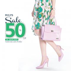 MILYS - giảm giá 50% toàn bộ sản phẩm từ 25-26.04.2015