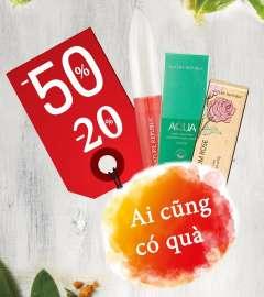 Thỏa mái shopping - ai cũng có quà với ưu đãi giảm giá 20% - 50% tại Nature Republic