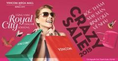 Crazy sale tại Vincom Mega Mall Royal City giảm giá lên đến 50%