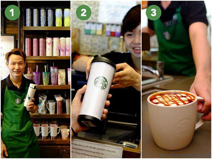 Starbucks miễn phí đồ uống