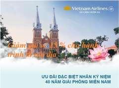Chào mừng 30/4 Vietnam Airlines giảm giá 15% vé nội địa