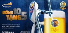 Bia Vuvuzela Vinh khuyến mại rực rỡ uống 10 tặng 5