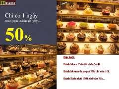 IT BAKERY giảm giá 50% tất cả các loại bánh vào thứ 4 hàng tuần