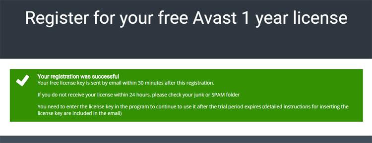 Đăng ký 1 năm bản quyền phần mềm Avast Internet Security
