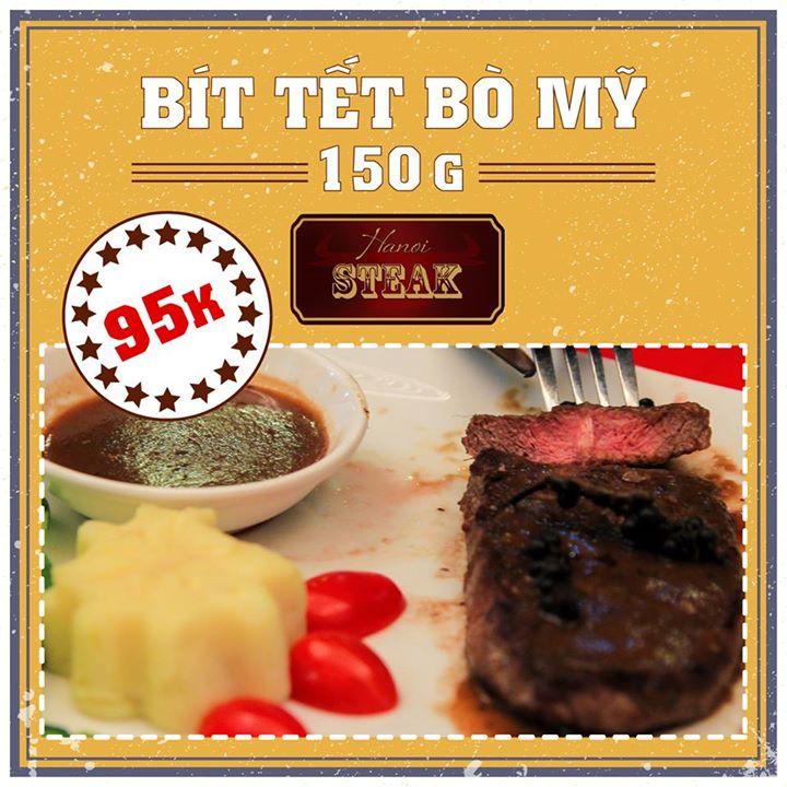 Hà Nội steak ưu đãi hấp dẫn