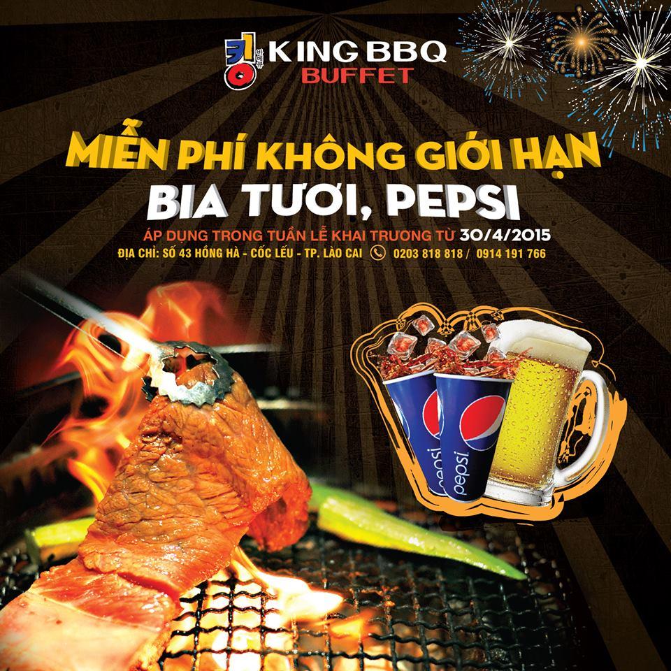 Uống bia và pepsi thả ga trong ngày khai trương King BBQ thứ 22
