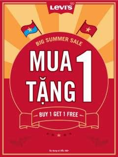 Big summer sale LEVI'S khuyến mại mua 1 tặng 1.