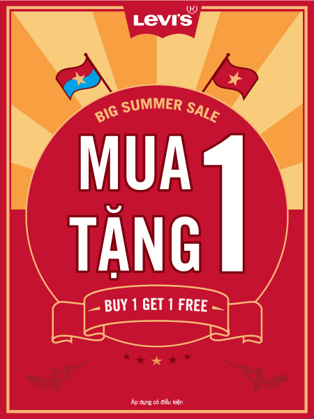 Levi's khuyến mãi Big Summer Sale hấp dẫn