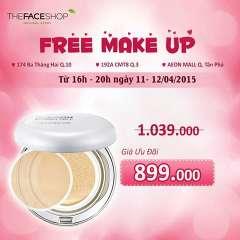 THEFACESHOP make up miễn phí + giảm giá phấn nền cực sốc