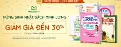 Nhà sách Minh Long Giảm 30% Giá Sách Dành Cho Thiếu Nhi
