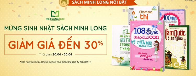Tuần sách Minh Long, giảm 30% sách cho bé