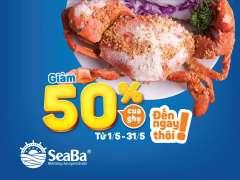 Rủ nhau trốn việc đại tiệc Seaba -  giảm giá 50% cho cua và ghẹ
