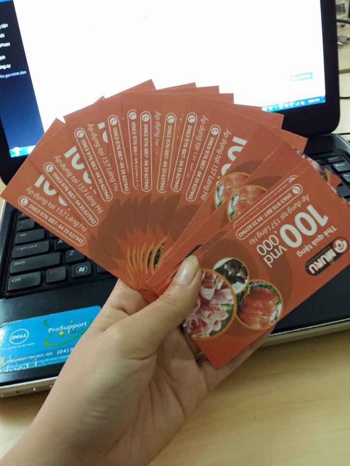 Tặng miến phí 13 voucher giảm giá tại nhà hàng muru