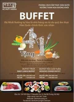 Đi 4 trả tiền 3 ưu đãi hấp dẫn khi ăn buffet tại đệ nhất nướng